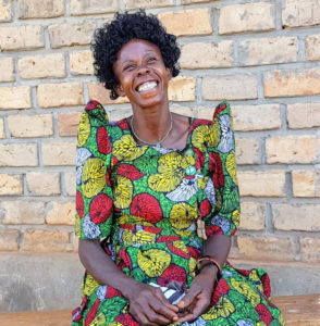 Jane Nakkiriza, a mother of five students at the BT Primary School of Kyambogo, played a huge part in mobilizing the community during construction and has benefited greatly from the school's presence.